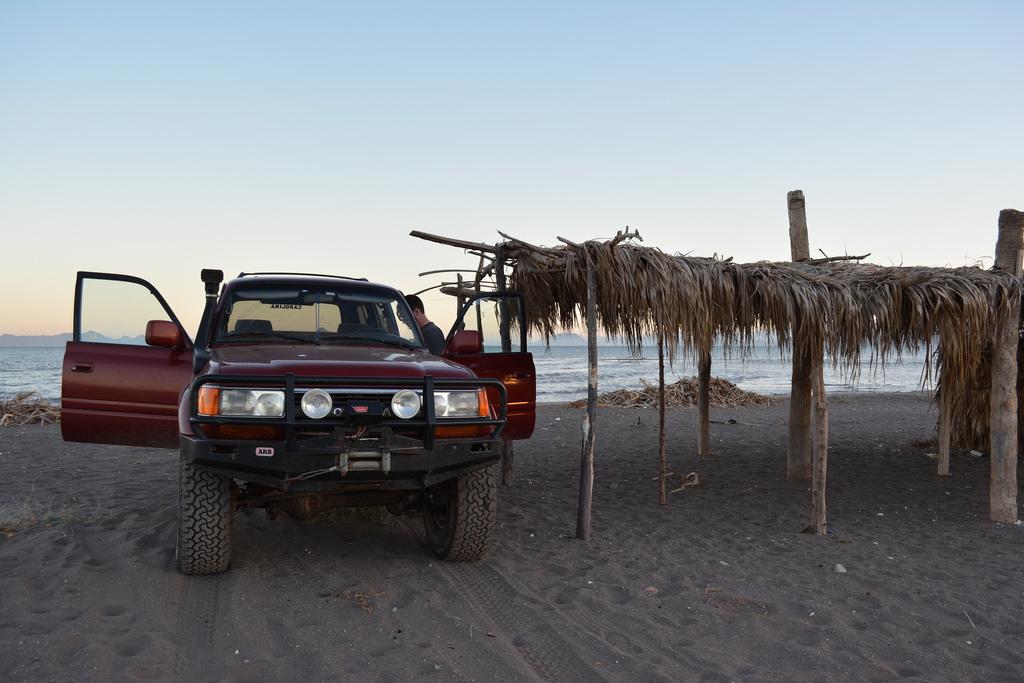 Our beach campsite in Loreto